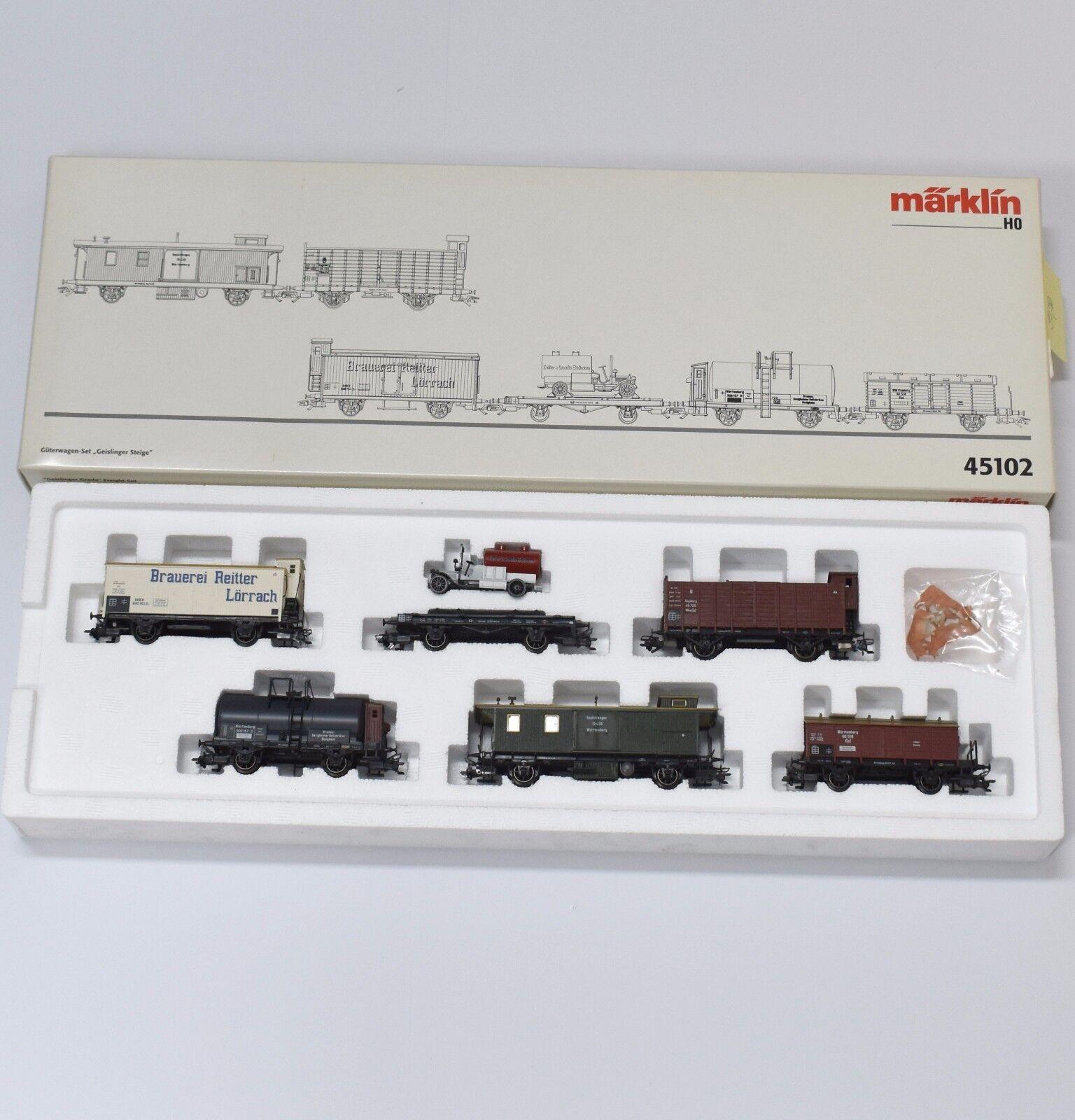 h0 45102 carri merci set  Geislinger sali , OVP, k033