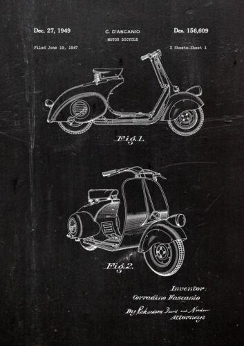 Vespa 1949 1 FineArt Print A4 Kunstdruck Galeriequalität handsigniert