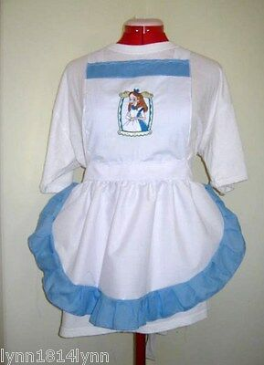 trim LADIES ALICE IN WONDERLAND CHARACTER APRON Design pick characters size