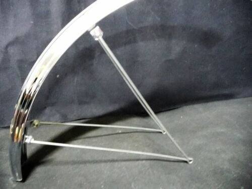 """Vintage RALEIGH 26/"""" mudguards Bicycle fenders Chromium pair NOS Made in England"""
