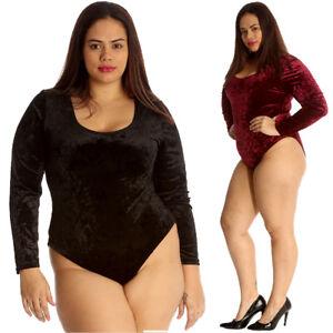 Romantisch Neue Frauen Übergröße Body Damen Samt Kleid Trainingsanzug Popper Knopf Weich Schnelle WäRmeableitung