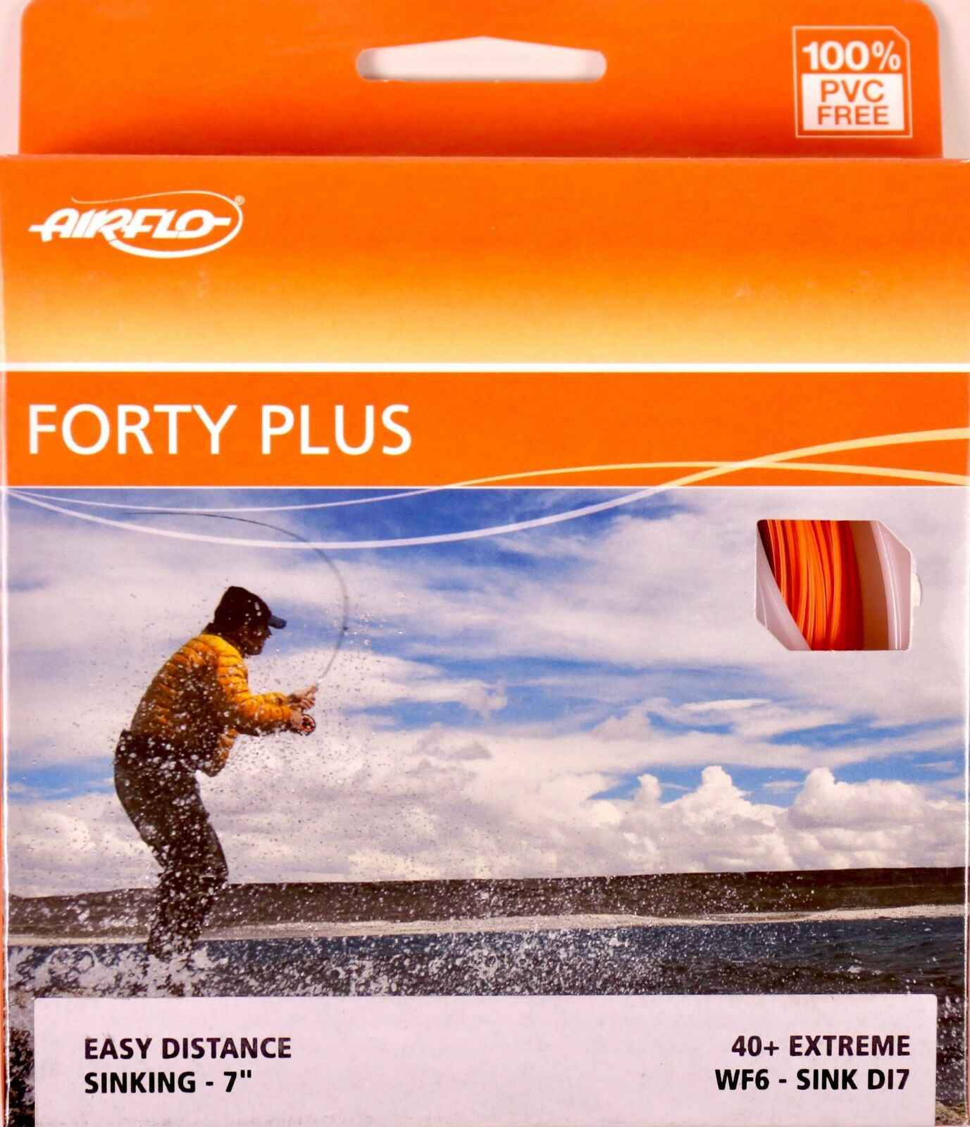 Airflo Forty Plus Extreme WF6 Sink DI7 Fly Line FREE FAST SHIPPING 40+