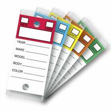 Color Top White Key Tags Self Protecting 250 Per Box Auto Dealership Car Lot