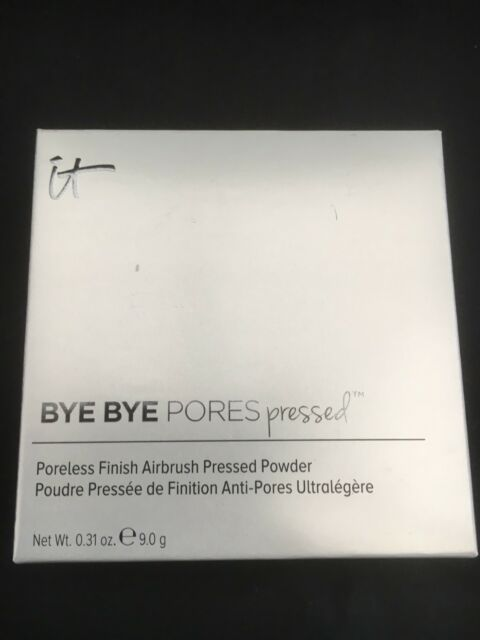NEW IN BOX IT COSMETICS BYE BYE PORES PRESSED IN TRANSLUCENT 9G