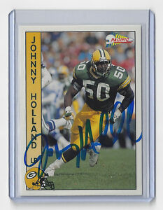 1992-PACKERS-Johnny-Holland-signed-card-AUTO-Pacific-106-Autographed-Green-Bay