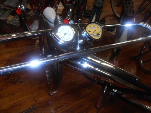 Stewart Warner bicycle speedometer /& Clock Console Dashboard FOR Cruiser Bikes
