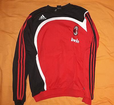 Leale Ac Milan Felpa Calcio Serie A Adidas Allenamento 2006-2007 Taglia M Pulizia Della Cavità Orale.