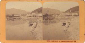 Locarno-Lago-Maggiore-Italia-Stereo-Jean-Andrieu-Parigi-Albumina-Ca-1870