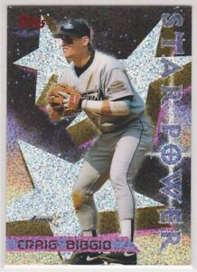 1996-CRAIG-BIGGIO-Topps-POWER-BOOSTER-Baseball-Card-9-HOUSTON-ASTROS-HOF