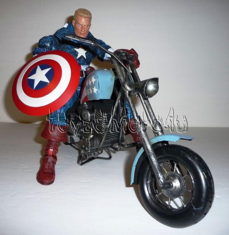 Marvel Legends Icons Captain America w/ Custom Bike 12