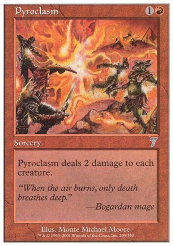 2x piroclasma-Pyroclasm MTG Magic 7e 7th Edition Eng