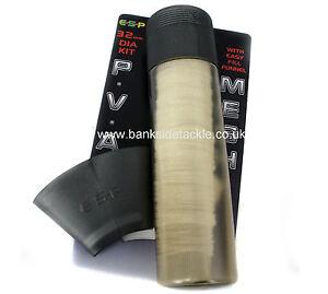 Pva maille 7 mètres étroit stocking /& piston /& 7 mètre recharge /& inoxydable aiguilles