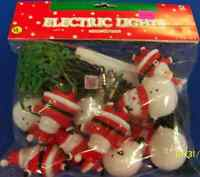 Santa & Snowman Winter Christmas Holiday Theme Party Decoration Electric Lights