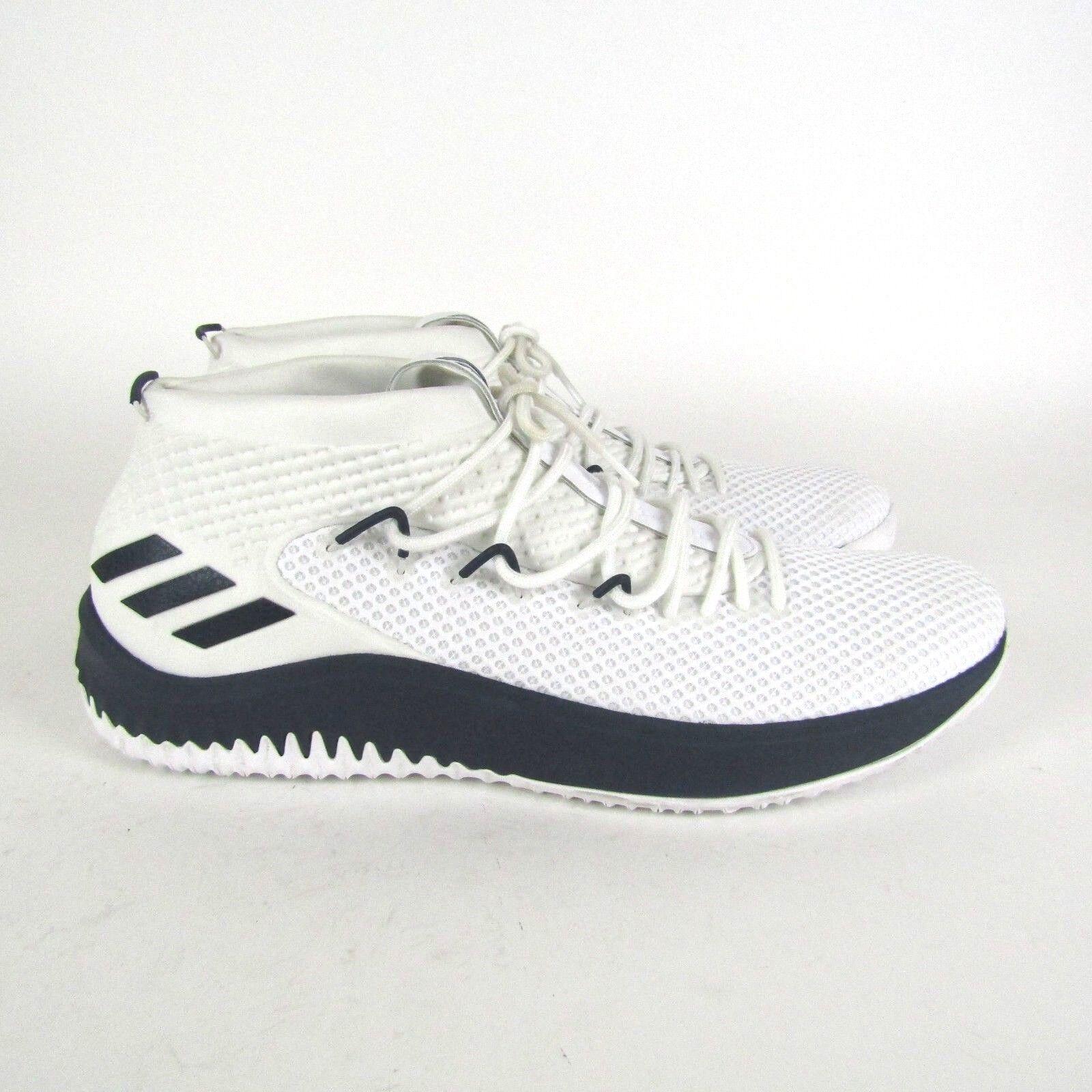 Adidas Dame 4 Player Exklusiv Herren Basketballschuhe Weiß Blau AC7267 Größe 19