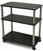 Rolling Laptop Table Cart Desk Mobile Computer Printer Stand Office Candy Shelf