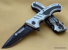 SMITH & WESSON EXTREME OPS TACTICAL FOLDING KNIFE BLADE WITH POCKET CLIP