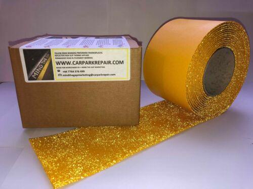 """para permanente de calzada Reflectante Antorcha-en Marcado de línea cinta 15 M x 4/"""" amarillo"""