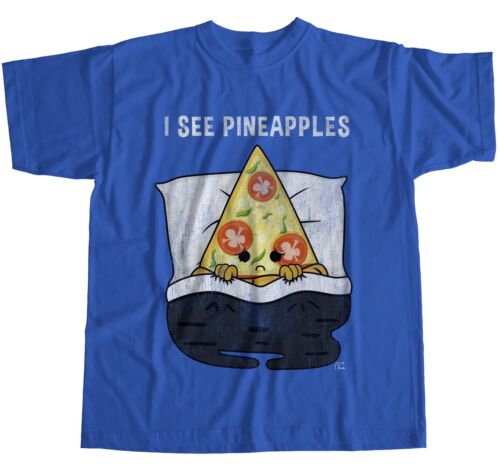 1Tee Mens I See Pineapples Pizza Nightmare T-Shirt