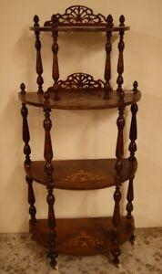 Antica etagere inglese del 1800 a mezzaluna stile Vittoriano - Inghilterra -1800