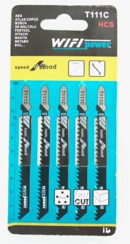 Lot de 5 lames de scie sauteuse pour Bois et Pvc denture 3 mm