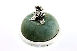Early-Antique-RARE-Tiffany-amp-Company-Makers-Sterling-Silver-Rose-Pin-Cushion