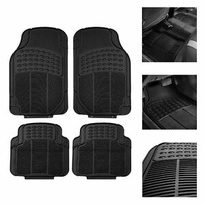 Car-Floor-Mats-for-All-Weather-Rubber-4pc-Set-Tactical-Fit-Heavy-Duty-Black