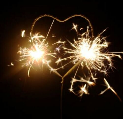 """Valentine/'s or Engagement party 6 Piece Heart Shaped Sparklers 11/"""" Wedding"""
