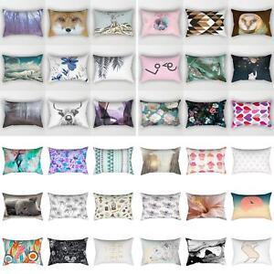 Am-30-50cm-Rectangular-Pillow-Case-Sofa-Waist-Throw-Cushion-Cover-Home-Decor-C