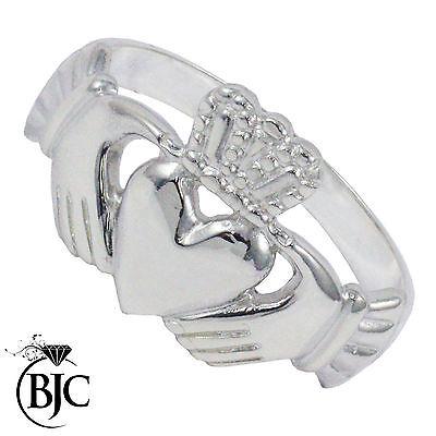 Bjc® Sterling Silver 925 Mens Claddagh Ring Size N -z+3 Brand New In Gift Box Eine GroßE Auswahl An Farben Und Designs