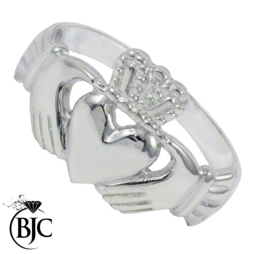 BJC® Sterling Silver 925 Mens Claddagh Ring Size N Z+3 Brand New In Gift Box