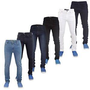 Para-Hombre-g-72-cierre-de-cremallera-Stretch-Skinny-Slim-Fit-vaqueros-del-dril-de-algodon
