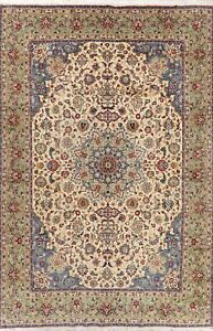 Vintage-Traditional-Floral-Hand-Knotted-Area-Rug-Medallion-Wool-Carpet-8-x-12