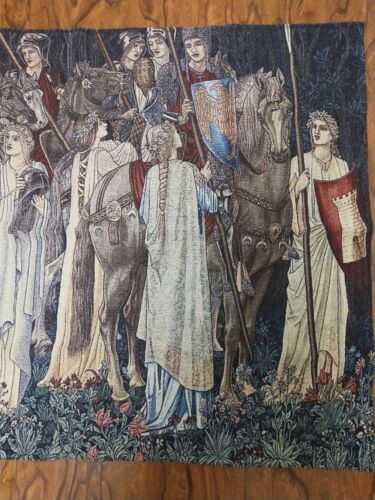 William Morris Holy Grail Tapestries Departure Woven Tapestry Wall Art Hanging