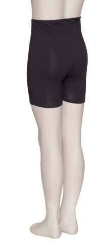 Ragazze Nero Cotone Danza Fitness Palestra Hotpants Pantaloncini kdtc05 da Katz