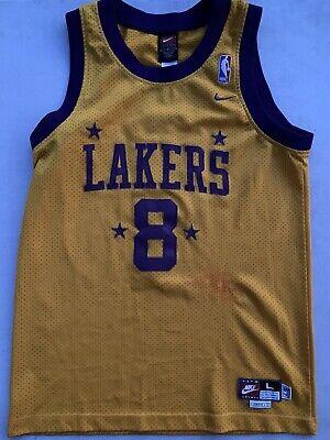 RARE???? Nike NBA Los Angeles Lakers Kobe Bryant Sewn Jersey 1957 Rewind Sz L Boys | eBay