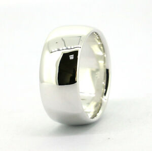 Wellmade 10mm Mens Solid 925Sterling Silver Plain Wedding Band Ring