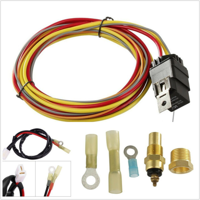 Professional Auto Electric Cooling Fan Single Control Wiring Harness Install Kit For Online Ebay