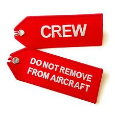 Crew Luggage Tag | Do Not Remove From Aircraft | Size S | High Quality aviamart®