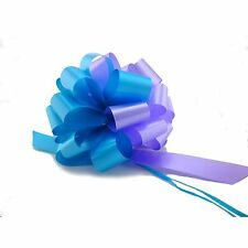 10 Turquoise Lavender Pull Bows Gift Wrap Wedding Balloon Decorations, 30 Loops