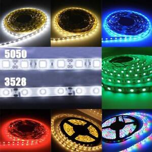 RGB Rot Gelb Blau Grün Warm//Kaltweiß SMD 5050 LED Stripe Streifen Licht 12V 1//5M