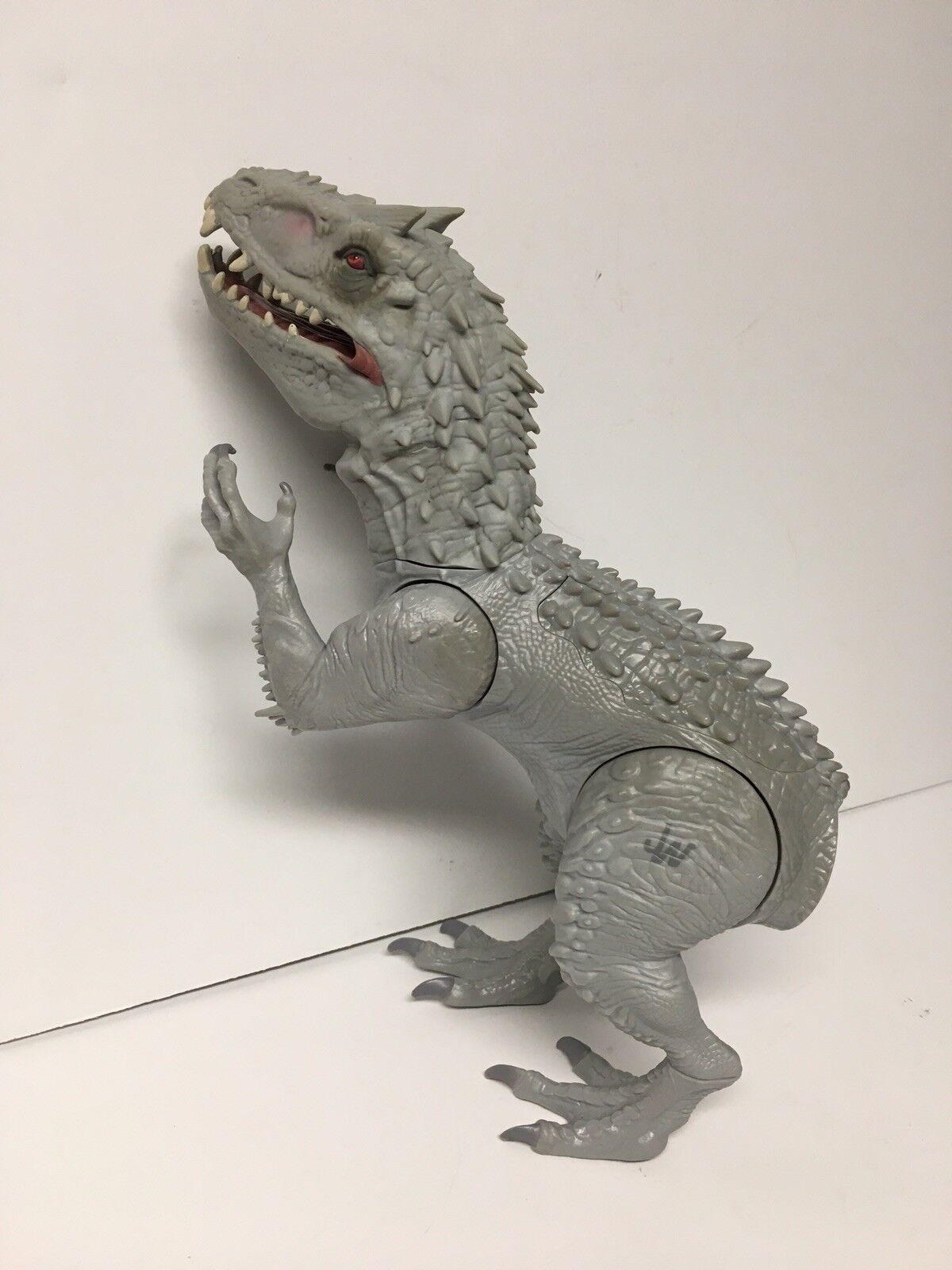 Jurassic World Indominus Rex Rex Rex Dinosaur With Lights and Sound Missing Tail 80ec4a