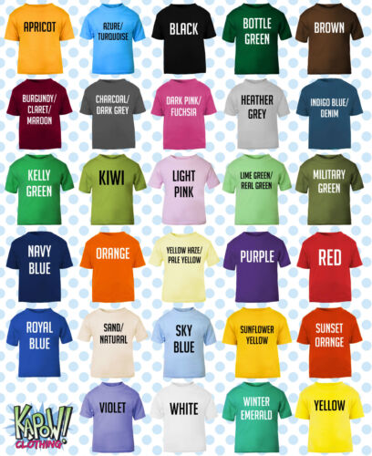 Custom Personalised Baby//Kids//Childrens T-SHIRT Name Funny Gift-Your text//logo 5