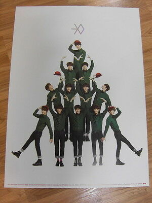 EXO - MIRACLES IN DECEMBER KOREAN VER. [ORIGINAL POSTER] *NEW* K-POP EXO-K EXO-M