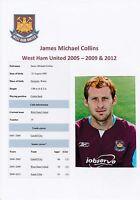 JAMES COLLINS WEST HAM UNITED 2005-2009 & 2012 ORIGINAL HAND SIGNED PHOTOGRAPH