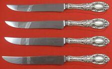 King Richard by Towle Sterling Silver Steak Knife Set 4pc Texas Sized Custom