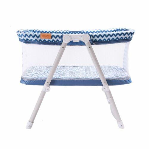Venture Hush Lite Baby Crib Compact Travel Cot 0-6 Months Blue