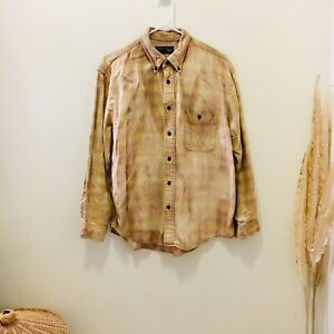 Size M dip dyed shirt Bleached Button Down Shirt