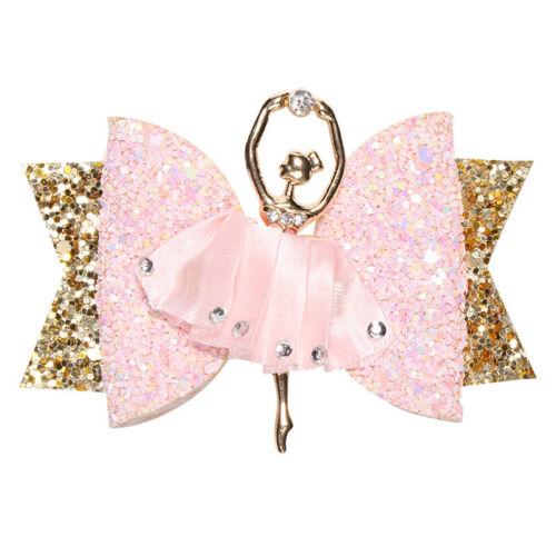 Ballerina Glitter Bow Sparkly Hair Clip Women Hairpin Kids Girls Barrettes