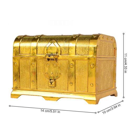 Pirates Treasure Chest Real Gemstones Fools Gold Kids Toy Play Set Birthdays