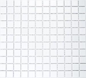 Mosaico-piastrella-in-ceramica-bianco-matt-Specchio-Piastrelle-Cucina-box-doccia-bagno-e-WC-18-0111